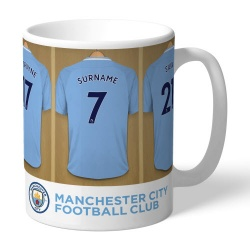 Manchester City Personalised Dressing Room Mug