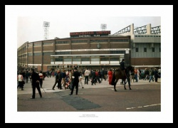 Outside Old Trafford Stadium 1972 Manchester United Photo