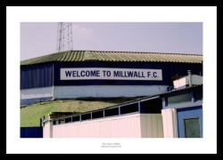 Outside the Old Den Stadium - Historic Millwall FC Photo Memorabilia