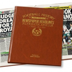 Personalised Plymouth Argyle Historic Newspaper Memorabilia Book
