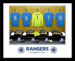 Rangers FC Personalised Goalkeeper Dressing Room Photo
