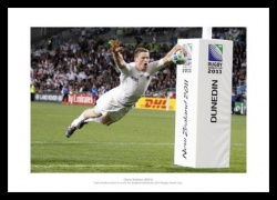 Chris Ashton 2011 England Rugby World Cup Photo Memorabilia