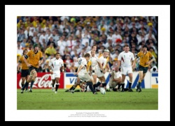 Jonny Wilkinson Drop Goal Photo - 2003 Rugby World Cup Final Memorabilia