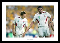 England Rugby Print - Jonny Wilkinson & Martin Johnson 2003 World Cup