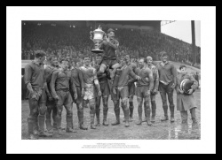 Warrington Rugby League Memorabilia - 1955 Challenge Cup Final Photo
