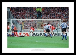 Sheffield Wednesday 1991 League Cup Final Goal Photo Memorabilia