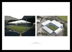 Sheffield Wednesday Hillsborough Stadium & Aerial View Print