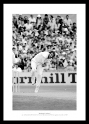 Ian Botham Memorabilia  - 1981 Ashes '5 for 11' England  Cricket Photo