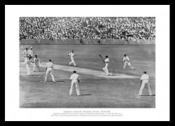 Bodyline Series Photo - 1932/33 England Ashes Test Cricket Print