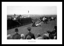 Becher's Brook 1929 Grand National Horse Racing Photo