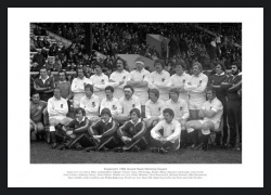 England 1980 Grand Slam Rugby Team Photo Memorabilia