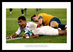 2003 Rugby World Cup Final Print - Jason Robinson Try