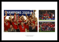 Wales Rugby Memorabilia - 2008 Grand Slam Print Montage