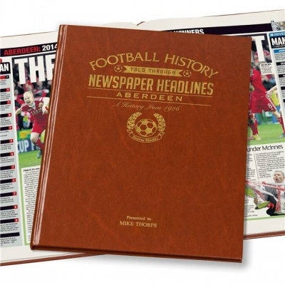 Personalised Aberdeen Historic Newspaper Memorabilia Book