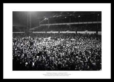 Arsenal 1971 League Title Fans Celebrate at White Hart Lane Photo