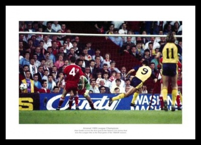 Arsenal v Liverpool 1989 League Champions Smith Goal Photo Memorabilia
