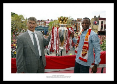 Arsenal 2004 Invincibles Arsene Wenger Patrick Vieira Photo Memorabilia