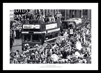 Aston Villa 1981 League Champions Open Top Bus Photo Memorabilia