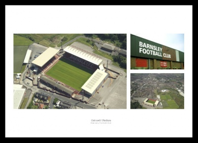 Barnsley FC Oakwell Stadium Aerial Views Photo Memorabilia
