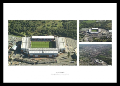 Blackburn Rovers  Ewood Park Aerial Views Stadium Photo Memorabilias