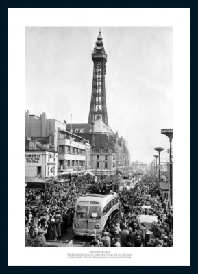 Blackpool 1953 FA Cup Final Open Top Bus Photo Memorabilia