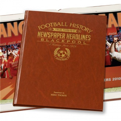 Personalised Blackpool FC Historic Newspaper Memorabilia Book