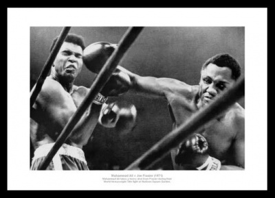 Muhammad Ali v Joe Frazier 'Battle of the Century' 1971 Boxing Photo