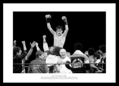 Barry McGuigan v Eusebio Pedroza 1985 World Title Photo Memorabilia