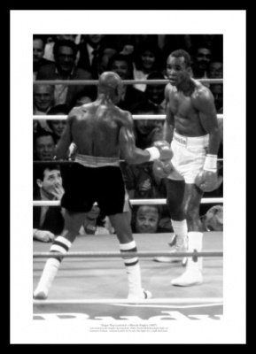Marvin Hagler v Sugar Ray Leonard 1987 Boxing Photo Memorabilia
