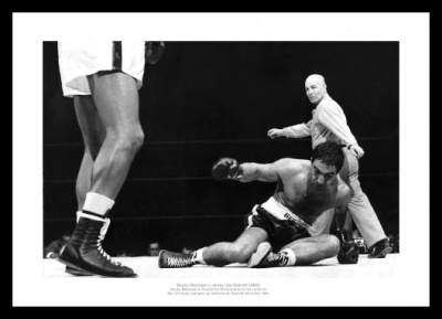 Rocky Marciano v Jersey Joe Walcott 1952 Boxing Photo Memorabilia