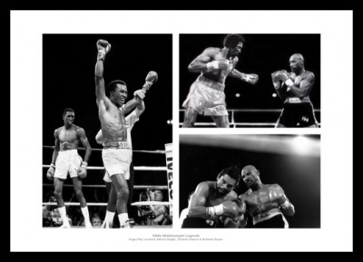 Boxing 1980s Middleweight Legends Photo Memorabilia