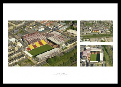 Bradford City Valley Parade Stadium Aerial Photo Memorabilia