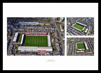 Brentford FC Griffin Park Aerial Photo Memorabilia
