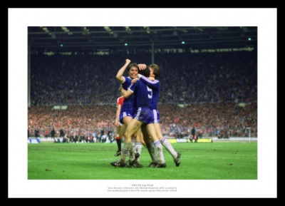 Brighton 1983 FA Cup Final Goal Celebration Photo Memorabilia