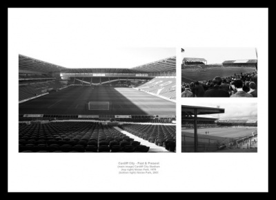 Cardiff City Stadiums Past and Present Photo Memorabilia