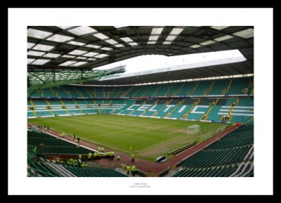 Inside Celtic Park Football Stadium Photo Memorabilia