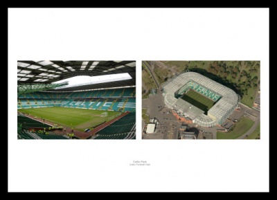 Celtic Park  - Inside Parkhead Stadium & Aerial View Photo Memorabilia