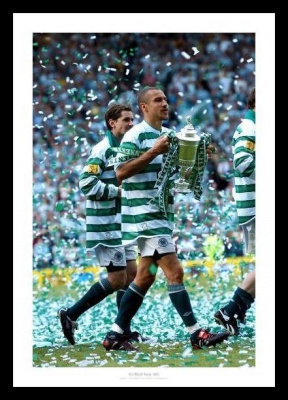 Henrik Larsson Celtic FC Last Game 2004 Photo Memorabilia
