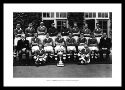 Chelsea FC 1955 League Champions Team Photo Memorabilia
