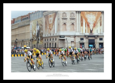 Chris Froome & Team Sky Paris 2017 Tour de France Photo Memorabilia