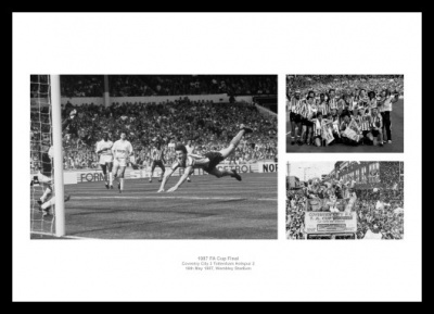 Coventry City Memorabilia - 1987 FA Cup Final Print Montage