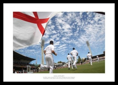 England Take to the Field - 2011 Ashes Series Photo