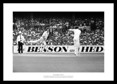 Bob Willis 1977 Ashes Centenary Test Photo Memorabilia
