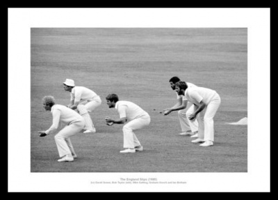 The 'Slip Cordon' England 1985 Cricket Photo Memorabilia