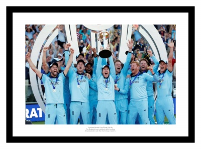 England 2019 Cricket World Cup Final Team Celebrations Photo Memorabilia