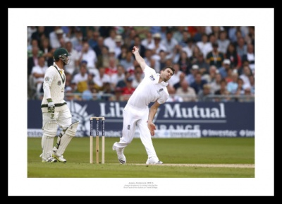 James Anderson Photo- 2013 England Ashes Cricket Memorabilia