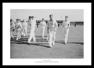 Jim Laker 19 Wickets in a Test 1956 Ashes Cricket Photo Memorabilia