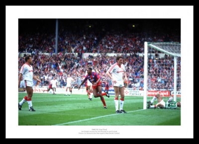 Crystal Palace 1990 FA Cup Final Ian Wright Goal Photo Memorabilia