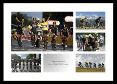 Chris Froome 2015 Tour de France Photo Memorabilia Montage