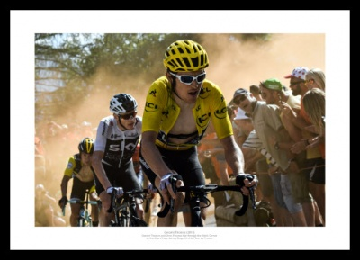 Geraint Thomas & Chris Froome 2018 Tour de France Alpe d'Huez Photo Memorabilia